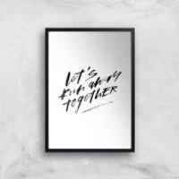 PlanetA444 Let' Run Away Together Art Print - A3 - Black Frame