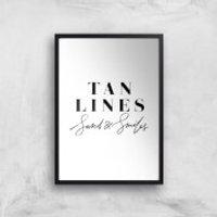 PlanetA444 Tan Lines, Sand and Smiles Art Print - A3 - Black Frame - Sand Gifts