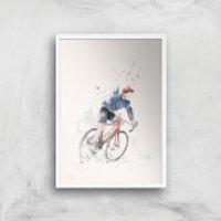 Balazs Solti Cycler Art Print - A3 - White Frame