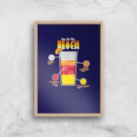 Infographic Sex On The Beach Art Print - A3 - Wood Frame - Sex Gifts