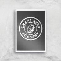 Craft Beer Academy Art Print - A3 - Wood Frame