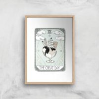 The Cheat Day Art Print - A3 - Wood Frame