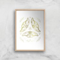 Fairy Dance Art Print - A3 - Wood Frame - Fairy Gifts