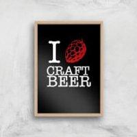 I Hop Craft Beer Art Print - A3 - Wood Frame - Craft Gifts