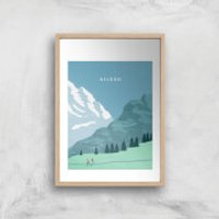 Algau Art Print - A3 - White Frame