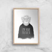 Balazs Solti I'm Your Father Art Print - A3 - White Frame