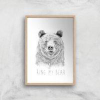 Balazs Solti Ring My Bear Art Print - A3 - White Frame