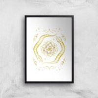 Snakes Art Print - A4 - Black Frame - Snakes Gifts