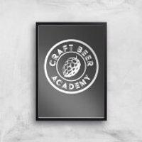 Craft Beer Academy Art Print - A4 - Black Frame - Craft Gifts