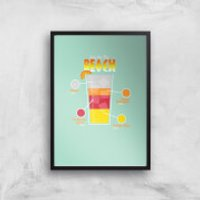 Infographic Sex On The Beach Art Print - A4 - Black Frame - Sex Gifts