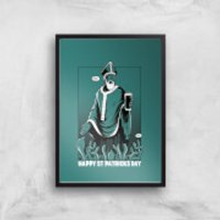 St. Patricks Day Art Print - A4 - Black Frame - St Patricks Day Gifts