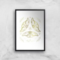 Fairy Dance Art Print - A4 - Black Frame - Fairy Gifts