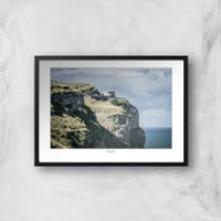 Great Orme Lighthouse Giclee Art Print - A3 - Black Frame