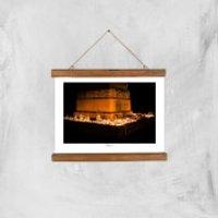 Memorial Square, Crewe Giclée Art Print - A4 - Wooden Hanger