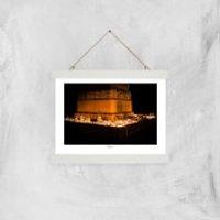 Memorial Square, Crewe Giclée Art Print - A4 - White Hanger