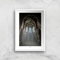 Chester Nightscape Giclee Art Print - A4 - White Frame
