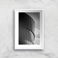Liverpool Skyline Giclee Art Print - A4 - White Frame