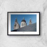 Liverpool Skyline Giclee Art Print - A2 - Black Frame