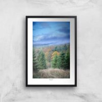 Macclesfield Forest Giclee Art Print - A3 - White Hanger