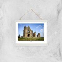 Moreton Corbet Castle Giclee Art Print - A4 - White Hanger