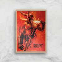 Hellboy Son Of The Fallen One Art Print - A3 - Wood Frame - Son Gifts