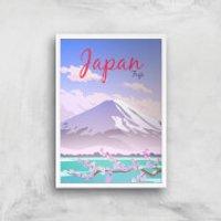 Visit... Japan Giclée Art Print - A4 - White Frame - Japan Gifts