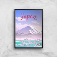 Visit... Japan Giclée Art Print - A4 - Black Frame - Japan Gifts