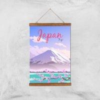 Visit... Japan Giclee Art Print - A3 - Wooden Hanger
