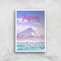 Visit... Japan Giclée Art Print - A2 - White Frame - Japan Gifts
