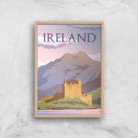 Visit... Ireland Giclée Art Print - A4 - Wooden Frame - Ireland Gifts