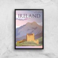 Visit... Ireland Giclée Art Print - A4 - Black Frame - Ireland Gifts