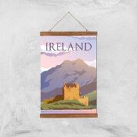 Visit... Ireland Giclée Art Print - A3 - Wooden Hanger - Ireland Gifts