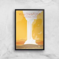 Visit... Yellowstone Giclee Art Print - A3 - Wooden Hanger