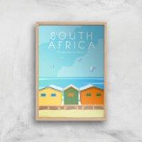 Visit... South Africa Giclée Art Print - A4 - Wooden Frame - Africa Gifts