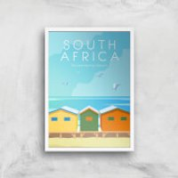 Visit... South Africa Giclée Art Print - A4 - White Frame - Africa Gifts
