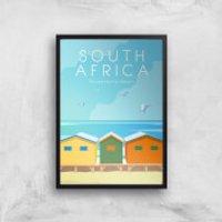 Visit... South Africa Giclée Art Print - A4 - Black Frame - Africa Gifts