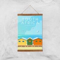 Visit... South Africa Giclée Art Print - A3 - Wooden Hanger - Africa Gifts