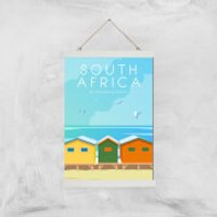 Visit... South Africa Giclée Art Print - A3 - White Hanger - Africa Gifts