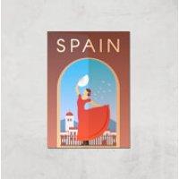Visit... Spain Giclée Art Print - A4 - Print Only - Spain Gifts