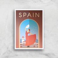 Visit... Spain Giclée Art Print - A4 - White Frame - Spain Gifts