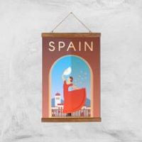 Visit... Spain Giclée Art Print - A3 - Wooden Hanger - Spain Gifts