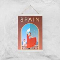 Visit... Spain Giclée Art Print - A3 - White Hanger - Spain Gifts