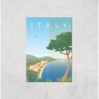 Visit... Italy Giclée Art Print - A4 - Print Only - Italy Gifts