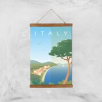 Visit... Italy Giclée Art Print - A3 - Wooden Hanger - Italy Gifts