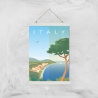 Visit... Italy Giclée Art Print - A3 - White Hanger - Italy Gifts