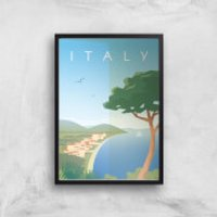 Visit... Italy Giclée Art Print - A3 - Black Frame - Italy Gifts