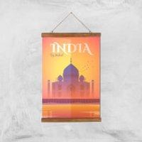Visit... India Giclée Art Print - A3 - Wooden Hanger - India Gifts