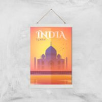 Visit... India Giclée Art Print - A3 - White Hanger - India Gifts