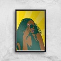 Summer Vibes Pop Inspired Giclee Art Print - A4 - Black Frame