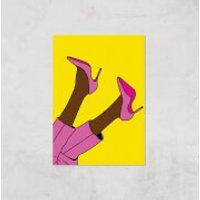 Pink Heels Lifted Giclée Art Print - A2 - Print Only - Heels Gifts